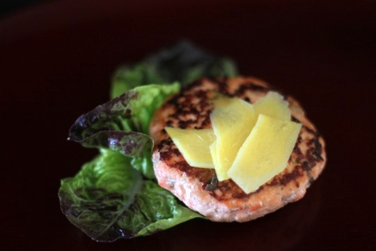 Salmon Burger with Pickled Ginger