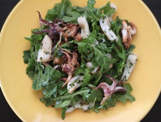 Grilled Squid Salad