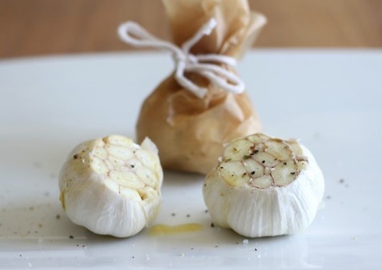 Garlic in Parchment Paper