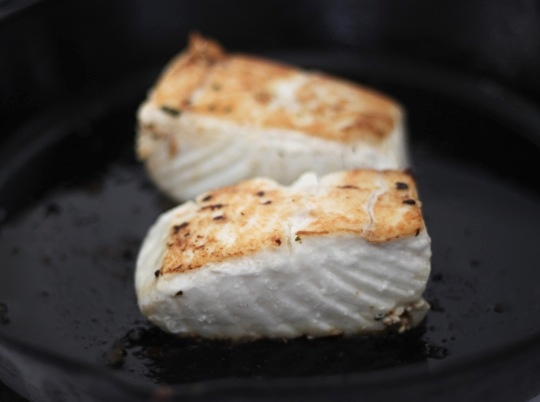Cooked Halibut