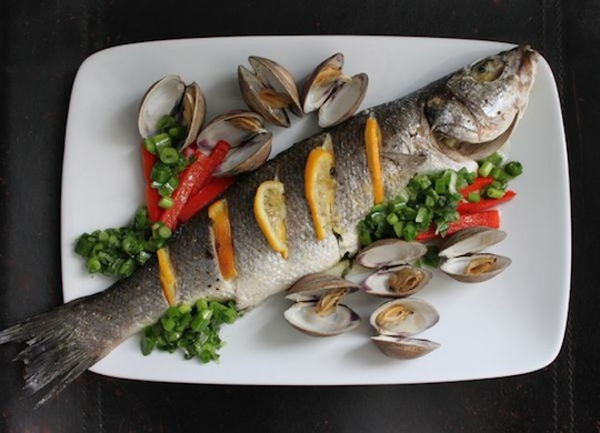 Grilled Whole Fish In Foil whole roasted fish with clams and spicy ...