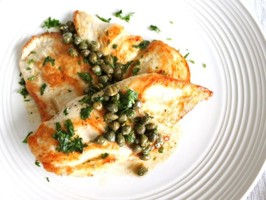 ... chicken with more views with anchovy and capers ok seriously chicken