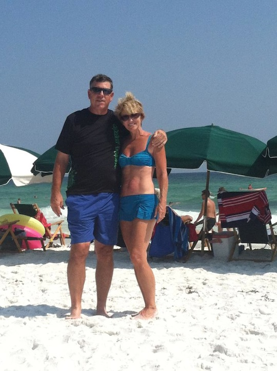 Kathy and Husband - Summer 2012 in Destin