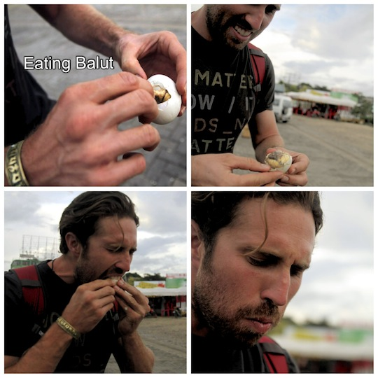 Eating Balut