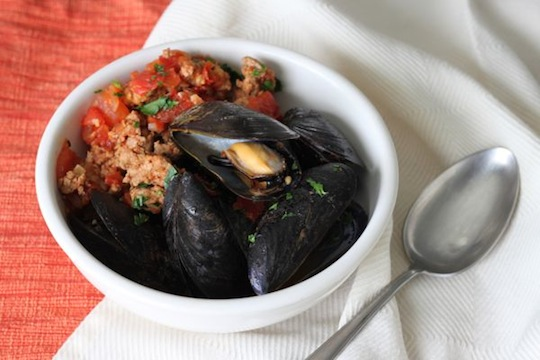 Mussels and Mexican Chorizo