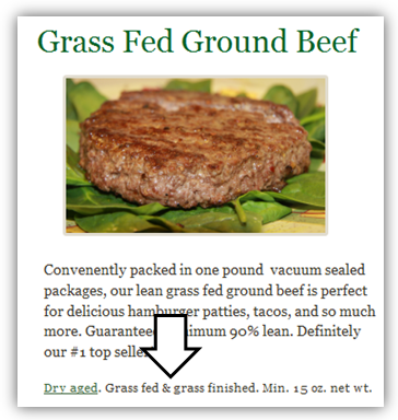 Tendergrass Farms Grass Fed Ground Beef