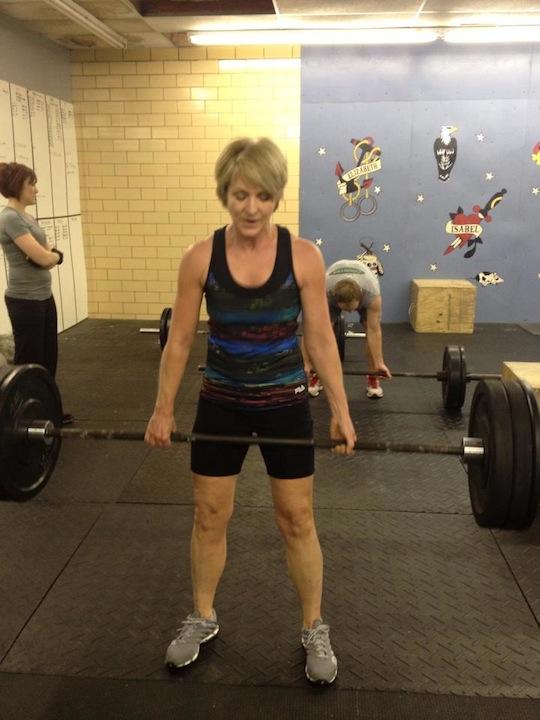 Kathy - Deadlifting 130 lbs