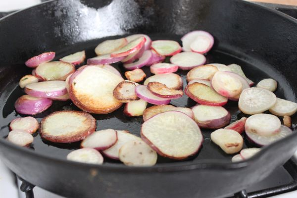Radishes Cooking