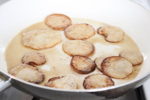 Sauteeing Turnips
