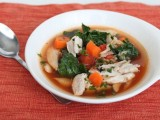 Minestrone-Inspired Soup with Quick Chicken Stock