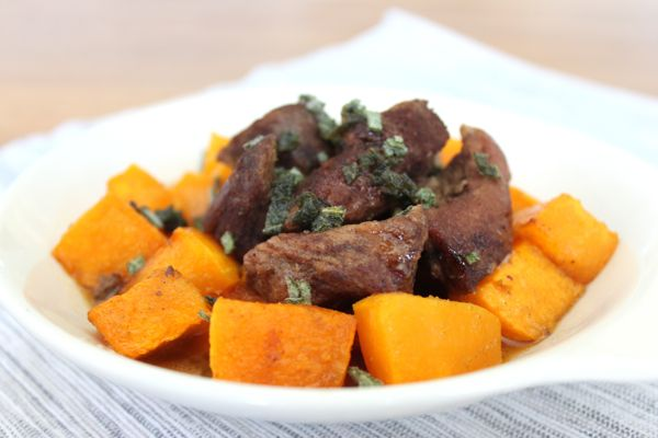 Spiced Pork and Butternut Squash with Sage
