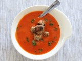 Tomato Soup with Spicy Mini-Meatballs