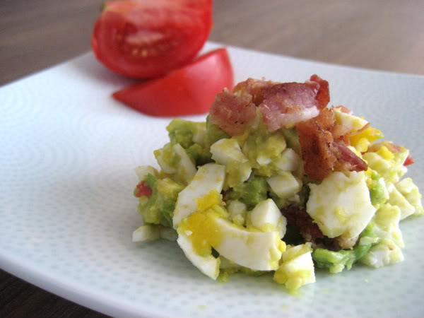 Bacon, Egg, Avocado, Tomato Salad