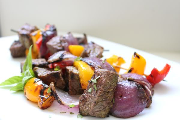 Lime and Basil Beef Kebabs