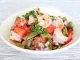 Roasted Cactus Salad with Shrimp
