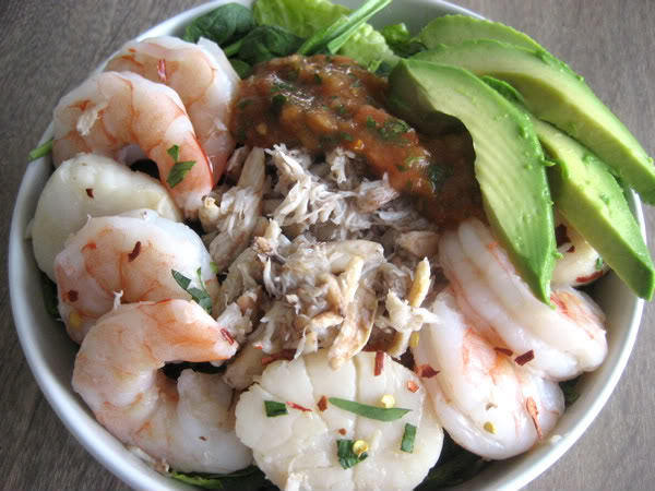 Seafood Salad with Homemade Salsa