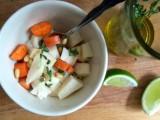 Jicama, Carrots and Raspberries in a Thyme Dressing