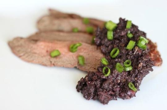 Dusle Tapenade and Steak