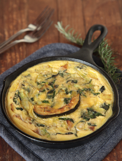 herbs frittata with leeks and herbs recipes dishmaps coleman leek ...